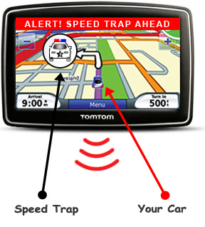 Use your TomTom GPS to avoid traffic tickets  Download PhantomALERT